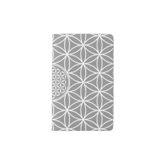 Flower of Life - seamless plain white + your backg Pocket Moleskine Notebook