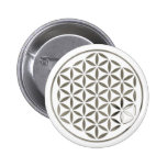 Flower Of Life - Silver 1 stamp Pin