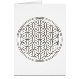 FLOWER OF LIFE - silver Card