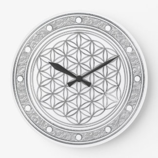 FLOWER OF LIFE - silver - clock face rings silver