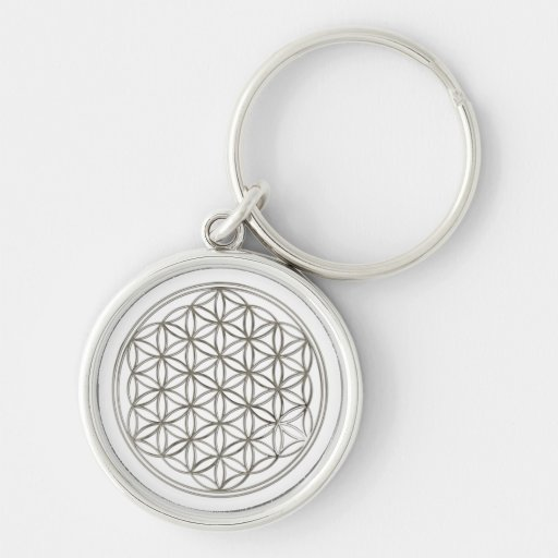 FLOWER OF LIFE - silver Key Chain