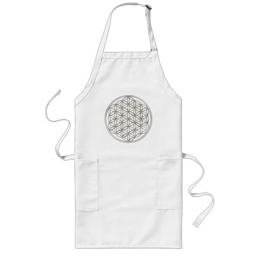 FLOWER OF LIFE - silver Long Apron