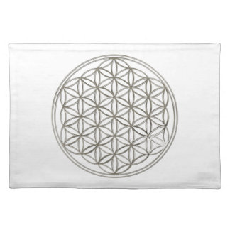 FLOWER OF LIFE - silver Placemat