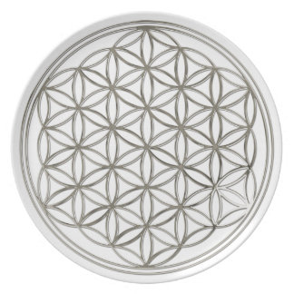 FLOWER OF LIFE - silver Plate