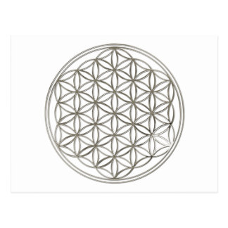 FLOWER OF LIFE - silver Postcard