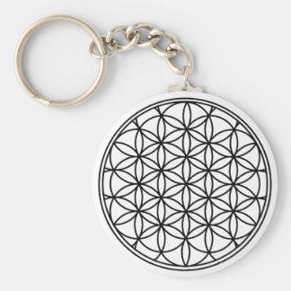 Flower of Life Simple Sacred Geometry Keychain