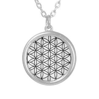 Flower of Life Simple Sacred Geometry Silver Plated Necklace