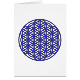 Flower of Life Single Blue Card