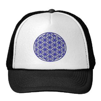 Flower of Life Single Blue Trucker Hat