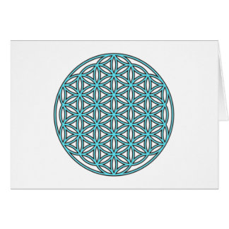 Flower of Life Single Turquoise Card