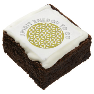FLOWER OF LIFE - SPIRIT ENERGY TO GO - punched Square Brownie