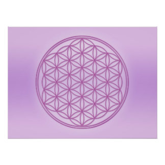 Flower of Life - St. Germain Poster
