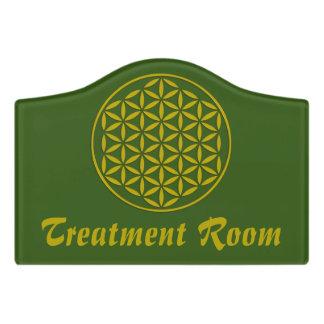 Flower of Life - stamp gold + your backgr. & ideas Door Sign