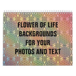 Flower of Life - stamp grunge pattern 1 Calendar