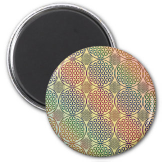Flower of Life - stamp grunge pattern 1 Fridge Magnets