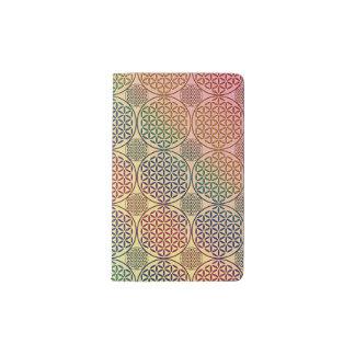 Flower of Life - stamp grunge pattern 1 Pocket Moleskine Notebook