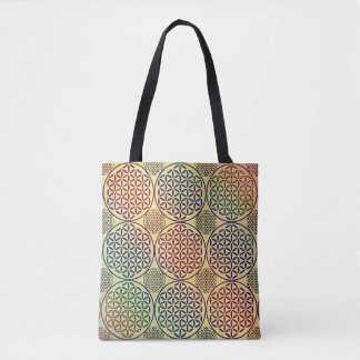 Flower of Life - stamp grunge pattern 1 Tote Bag