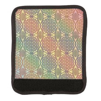 Flower of Life - stamp grunge pattern 1 Luggage Handle Wrap