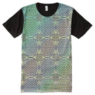 Flower of Life - stamp grunge pattern 2 All-Over-Print Shirt