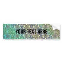 Flower of Life - stamp grunge pattern 2 Bumper Sticker