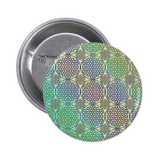 Flower of Life - stamp grunge pattern 2 Pinback Buttons