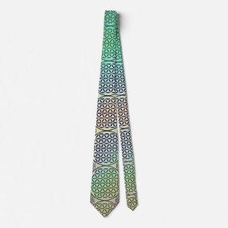 Flower of Life - stamp grunge pattern 2 Neck Tie
