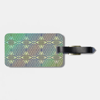 Flower of Life - stamp grunge pattern 2 Tag For Luggage