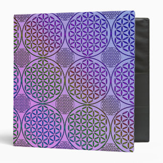 Flower of Life - stamp grunge pattern 3 Binder