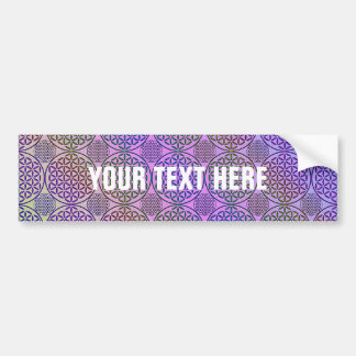 Flower of Life - stamp grunge pattern 3 Bumper Stickers