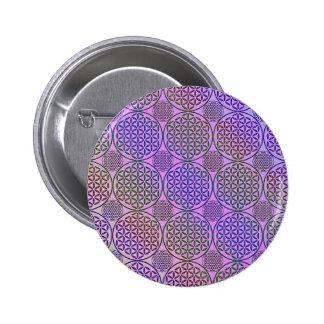 Flower of Life - stamp grunge pattern 3 Pins