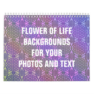Flower of Life - stamp grunge pattern 3 Calendar