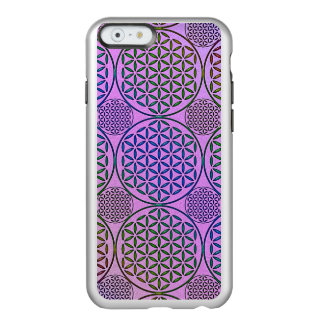 Flower of Life - stamp grunge pattern 3 Incipio Feather Shine iPhone 6 Case