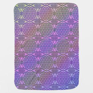 Flower of Life - stamp grunge pattern 3 Receiving Blankets