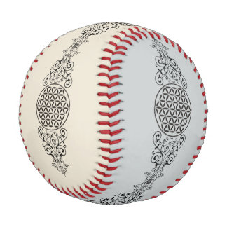 Flower Of Life - stamp ornaments black I Baseball
