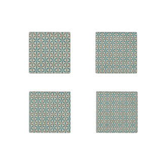 Flower of Life - stamp pattern - BG 1 Stone Magnet