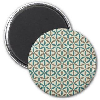 Flower of Life - stamp pattern - BG 1 Fridge Magnet