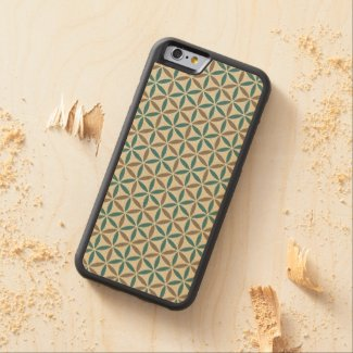Flower of Life - stamp pattern - BG 1 Carved® Maple iPhone 6 Bumper