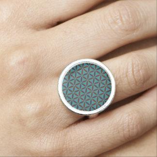 Flower of Life - stamp pattern - BG 2 Photo Ring