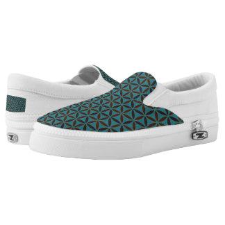 Flower of Life - stamp pattern - BG 2 Slip-On Sneakers