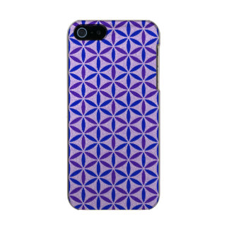 Flower of Life - stamp pattern - BG 4 Metallic Phone Case For iPhone SE/5/5s