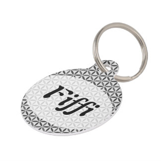 Flower of Life - stamp pattern - BG 5 Pet ID Tag