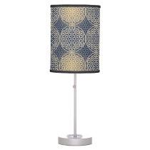 Flower of Life - stamp pattern - blue sand Desk Lamp