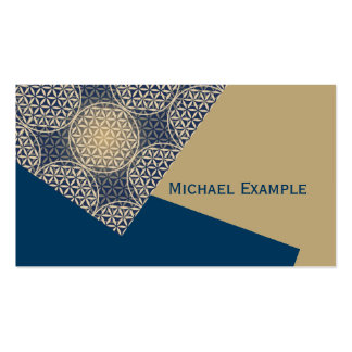 Flower of Life - stamp pattern - blue sand Double-Sided Standard Business Cards (Pack Of 100)