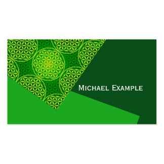 Flower of Life - stamp pattern - green Double-Sided Standard Business Cards (Pack Of 100)