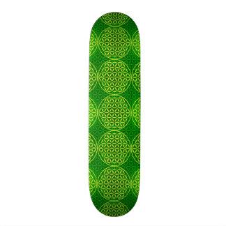 Flower of Life - stamp pattern - green Skateboard Deck
