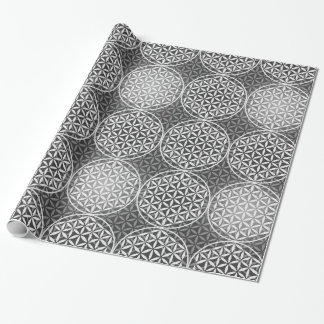Flower of Life - stamp pattern - grey Wrapping Paper
