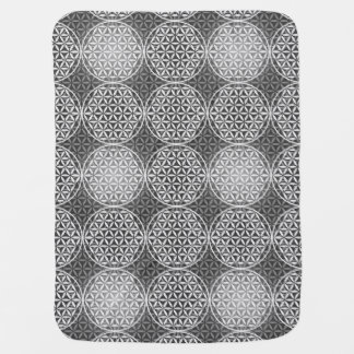 Flower of Life - stamp pattern - grey Baby Blankets