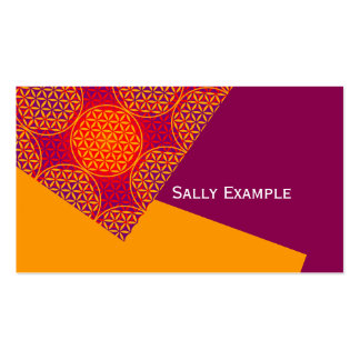 Flower of Life - stamp pattern - orange pink Double-Sided Standard Business Cards (Pack Of 100)