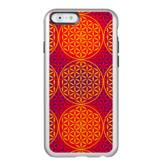 Flower of Life - stamp pattern - orange pink Incipio Feather Shine iPhone 6 Case