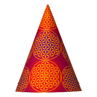 Flower of Life - stamp pattern - orange pink Party Hat